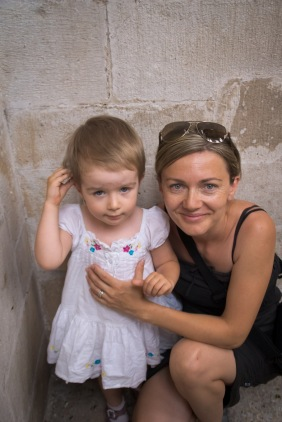 In the village of Trogir, in Croatia, I came upon this mother and daughter while climbing a bell tower in a local church. They asked me to take a picture with their camera, and afterwards they were pleased to let me capture them with my own camera.